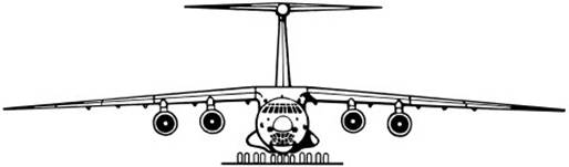 Il-76 Front View